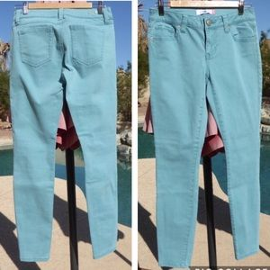 Cabi Mint Green Blue Tidal Skinny Curvy Jeans 4